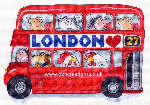 London Bus Margaret Sherry Cross Stitch Kit
